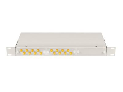 Кросс оптический 1U, 16 портов ST/UPC