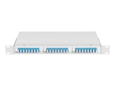 Кросс оптический 1U, 48 портов LC/UPC